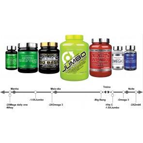 Pak aumento de massa muscular NutriTop ectomorfo 20 aos 40anos