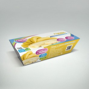 Clarou flanou pudim protéico banana